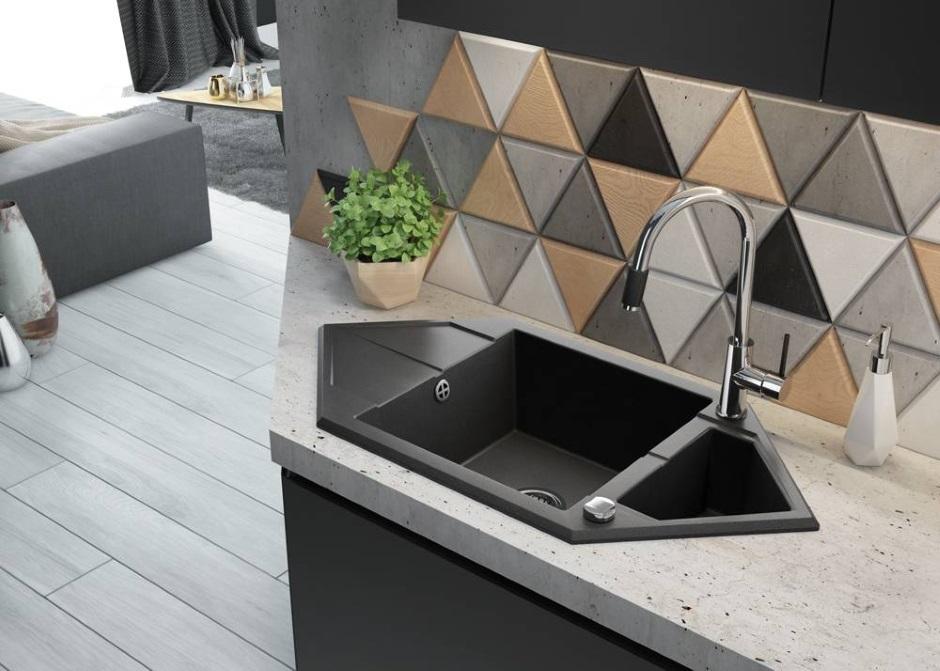 sześciokątny zlewozmywak granitowy Deante Hexagon