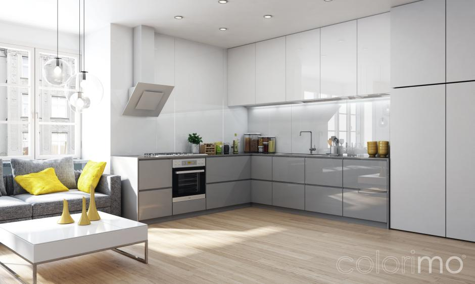Szare meble do kuchni  10 inspirujących pomysłów  meble   -> Kuchnia Na Wymiar W Bloku Cena