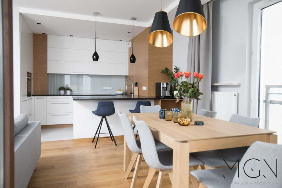 Kuchnia Otwarta Na Salon I Jadalnie Szczypta Kolorów Kuchnie