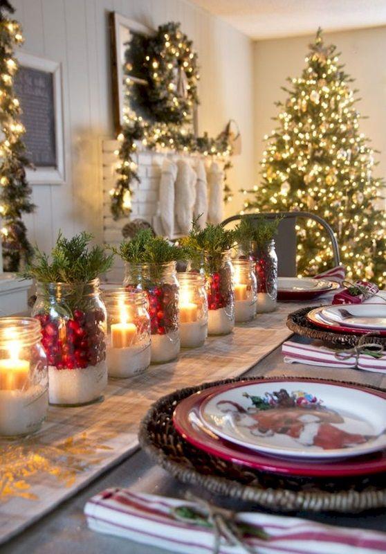 Aranżacje Kuchni Zdjęcie Dekoracja świąteczna Stołu