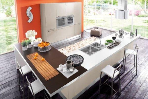 Kuchnia otwarta na salon  projekty kuchni  Rad Pol  Kuchenny com pl -> Kuchnia Z Oknem Otwarta Na Salon