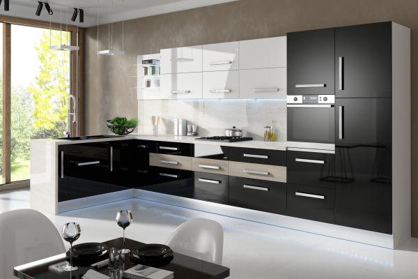 Meble kuchenne na wysoki połysk  meble kuchenne  Kuchenny com pl