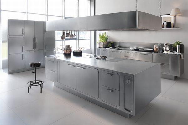 L ni ce meble kuchenne ze stali nierdzewnej design ze for Costo de cocina industrial