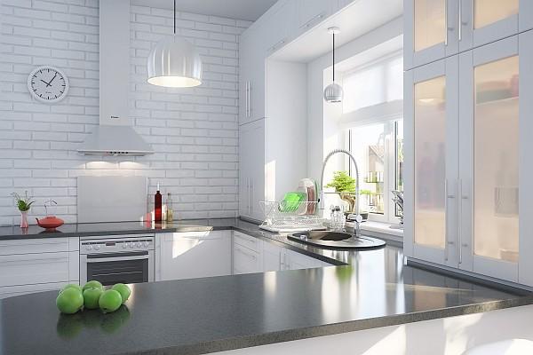 Czarno-biała kuchnia w stylu skandynawskim