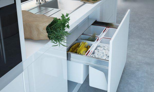 Pojemniki do segregacji odpadów w kuchni - przegląd