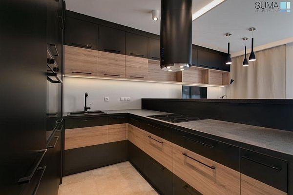 Czarne AGD w kuchni