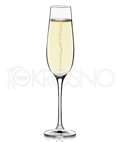Kieliszek do szampana z punktem musującym