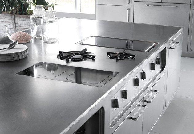 Ogromny Kuchnia ze stali nierdzewnej firmy Abimis - design ze świata XY57