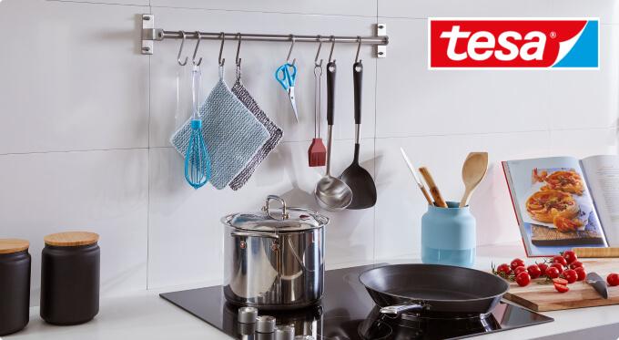 Wykorzystanie przestrzeni w kuchni - reling kuchenny