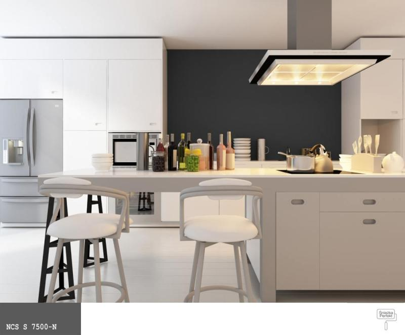 Jaki kolor farby wybrać do kuchni  ściany i podłogi   -> Kuchnia City Czarna