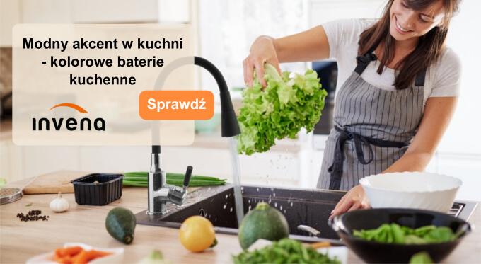 Modny akcent w kuchni - kolorowe baterie kuchenne
