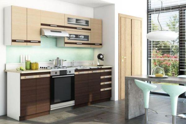 Ściany w kuchni  porady  Kuchenny com pl -> Kuchnia Dąb Sonoma Jakie Kafelki
