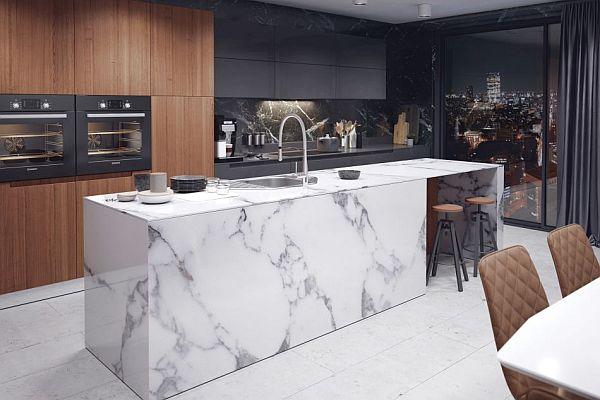 Marmur W Kuchni Blaty Dekoracje Akcesoria Trendy