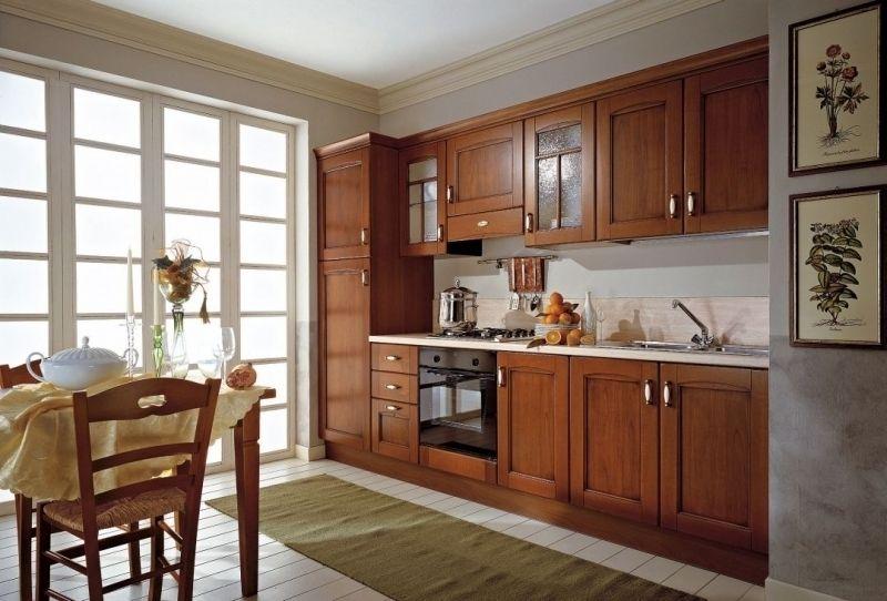 Kuchnia klasyczna  kuchnia w stylu  Kuchenny com pl -> Kuchnia Brązowe Meble Jaki Kolor Ścian