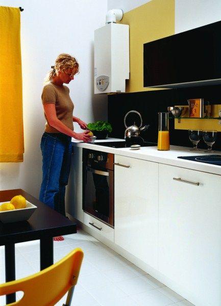 Kocioł gazowy w kuchni