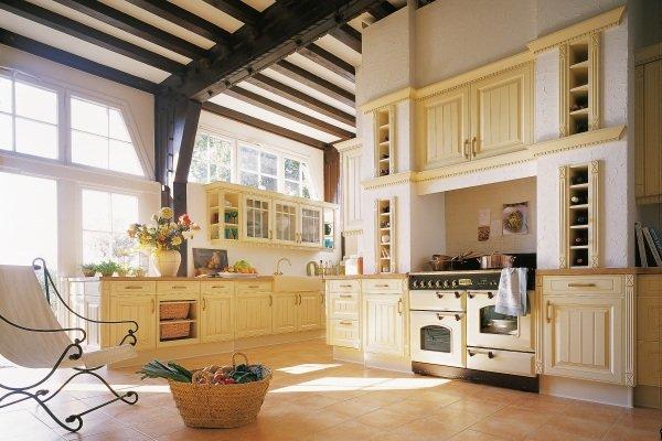 Wystrój kuchni w stylu angielskim Falcon