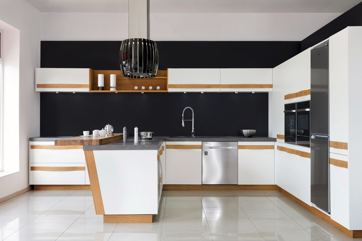 Kuchnia biała kontra kuchnia czarna  meble kuchenne   -> Kuchnia Biala Tania