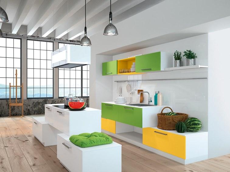 Max Kuchnie - Kolorowe wykończenia w kuchni