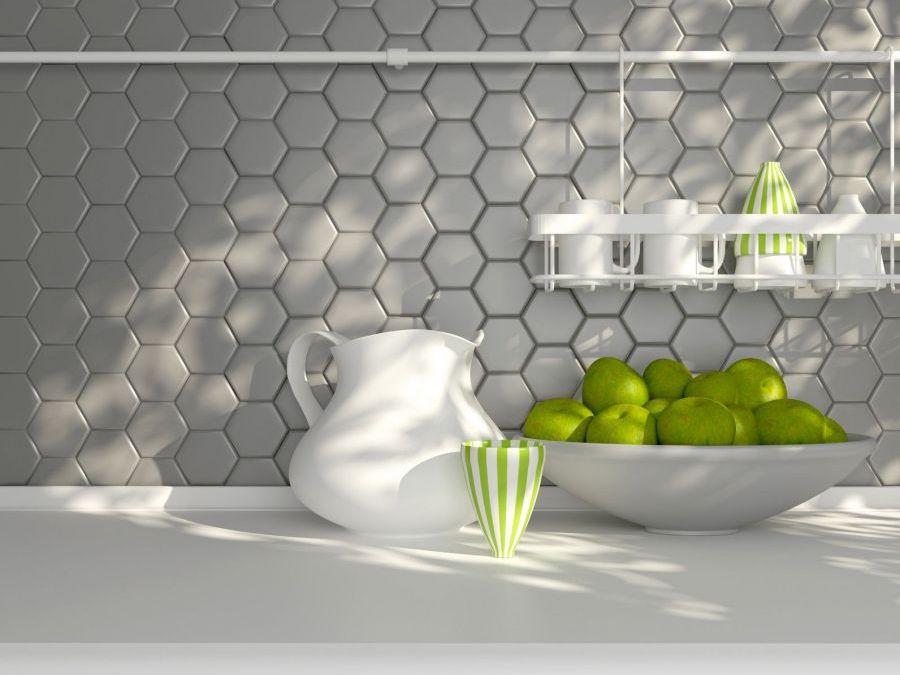 Płytki Heksagonalne W Kuchni ściany I Podłogi Kuchenny