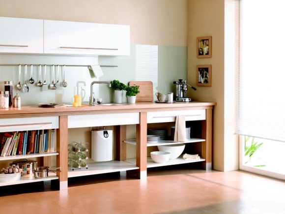 Pojemnościowy bezciśnieniowy ogrzewacz wody w kuchni