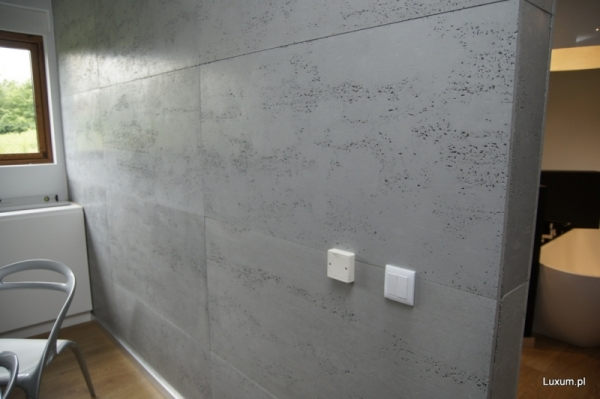 ściana z płyt betonowych Luxum