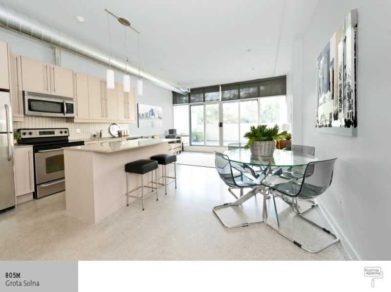 Jaki kolor farby wybrać do kuchni  ściany i podłogi   -> Szara Kuchnia Jasny Blat