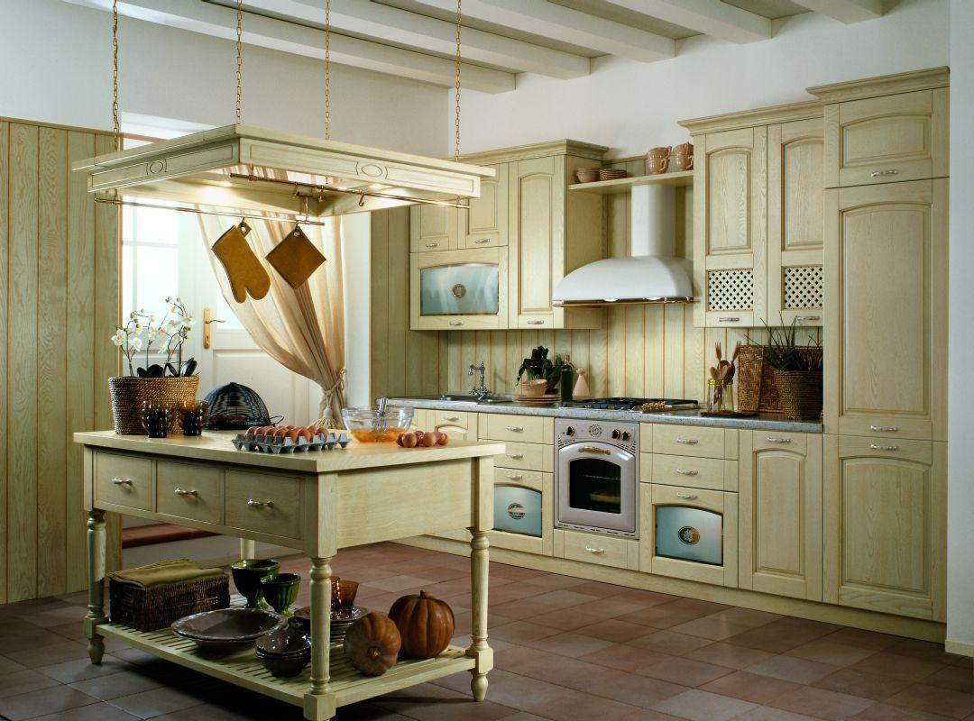 Wyspa kuchenna trendy kuchenne - Tende da cucina rustica ...