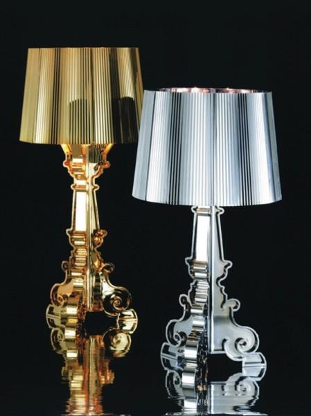 Rosenthal - lampy stojące firmy Kartell wykonane z  tworzyw sztucznych