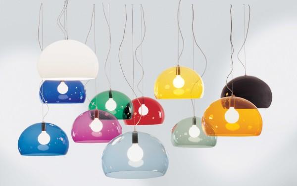 Rosenthal - lampy wiszące firmy Kartell wykonane z  tworzyw sztucznych
