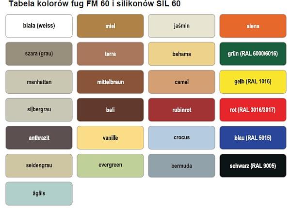 Murexin - kolory fug FM 60