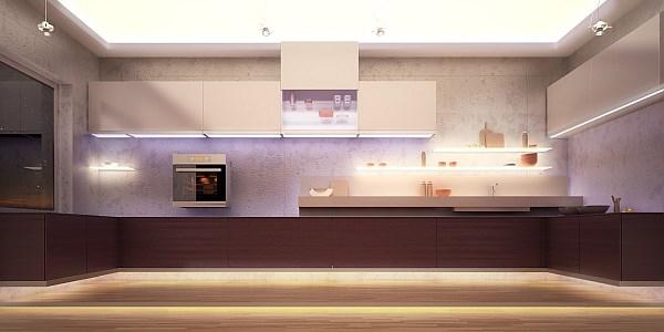 Zastosowanie oświetlenia LED w kuchni - SOLED