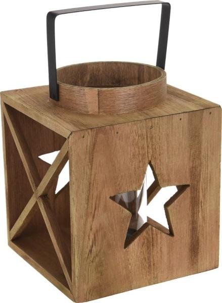 drewniana latarenka