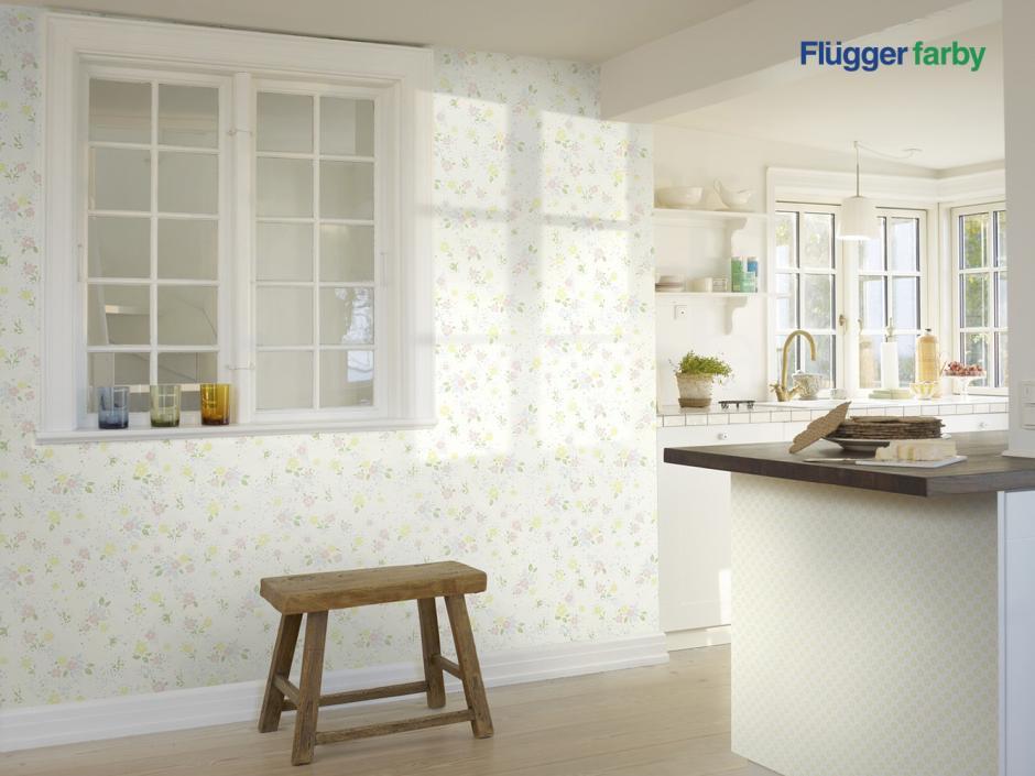 tapeta w kuchni Flugger