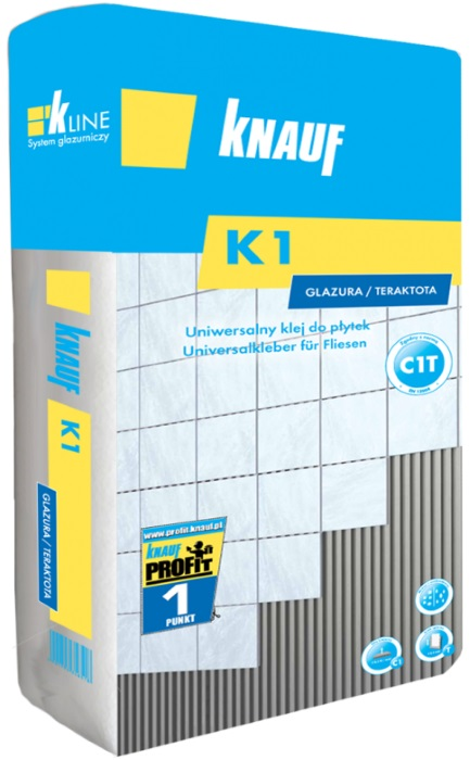 Knauf K1 - uniwersalny klej do płytek