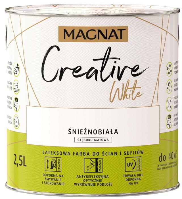 Magnat Creative White - biała lateksowa farba do ścian i sufitów