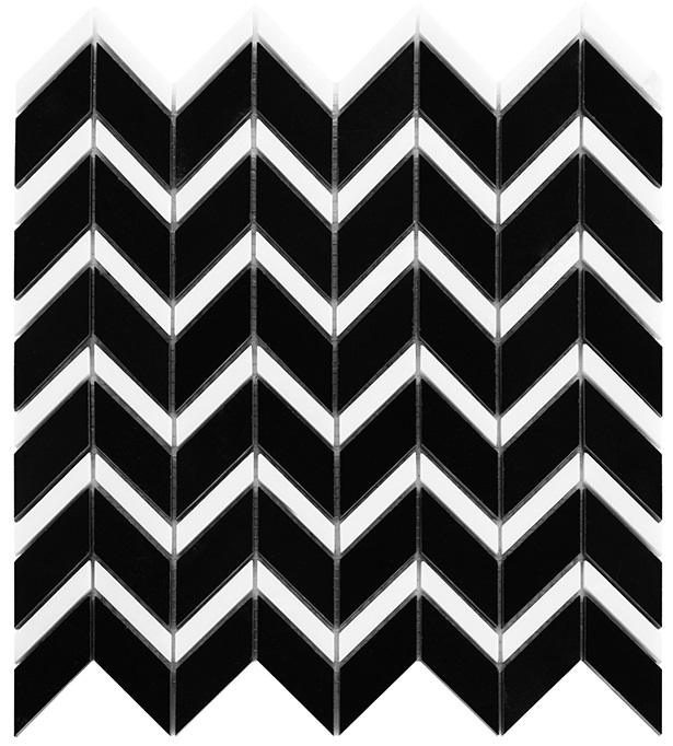 Pure Black CHEVRON mix - Dunin