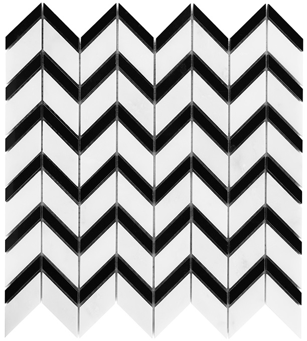 Pure White CHEVRON mix - Dunin