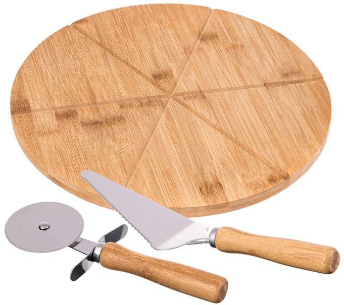 TADAR - zestaw do pizzy: deska, łopatka, radełko - Europ24.pl