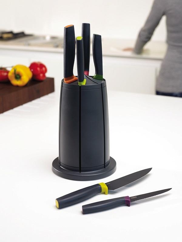 Cook&Home - Zestaw noży ELEVATE z stojakiem, kolorowy JOSEPH JOSEPH