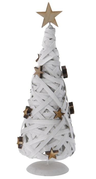 choinka drewniana biała
