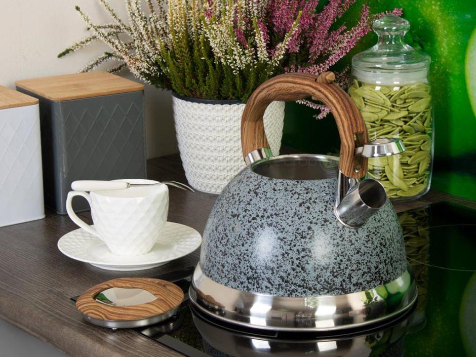 Modny czajnik - marmurowy wzór