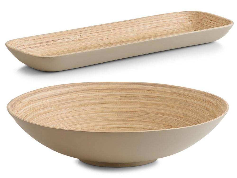 Wykonane z ekologicznego drewna bambusowego miski Zeller