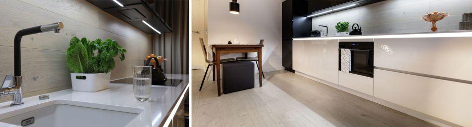 Deska barlinecka na ścianie w kuchni