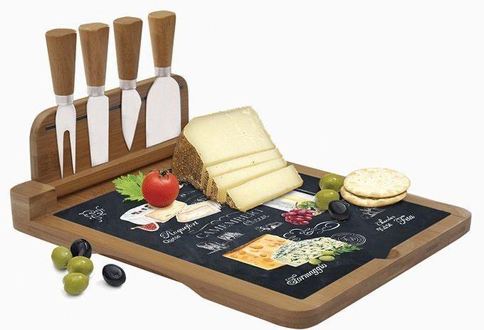 Deska do serwowania serów z zestawem noży