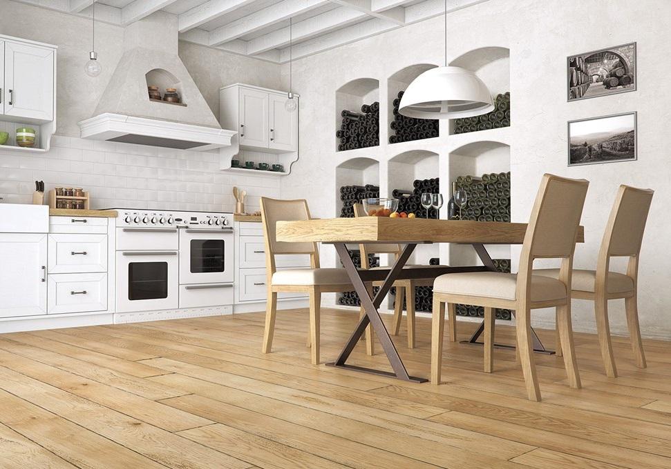 Barlinek - Drewniana podłoga w kuchni