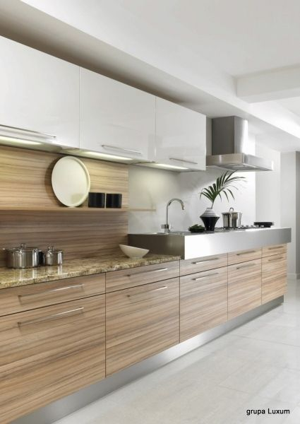 Drewno W Kuchni Na ścianę Trendy Kuchenne Kuchennycompl