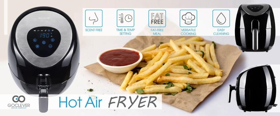 frytkownica beztłuszczowa Goclever Hot Air Fryer
