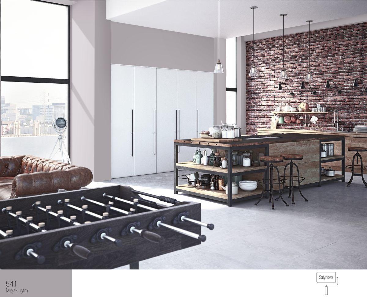 Industrialna kuchnia połączona zsalonem kuchennym