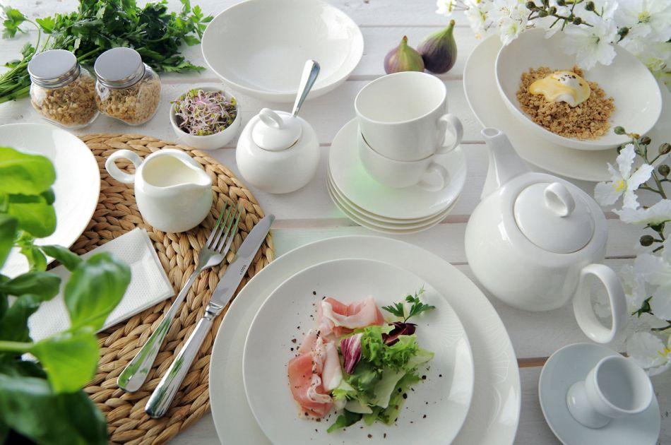 Nowoczesne nakrycie stołu na wielkanoc