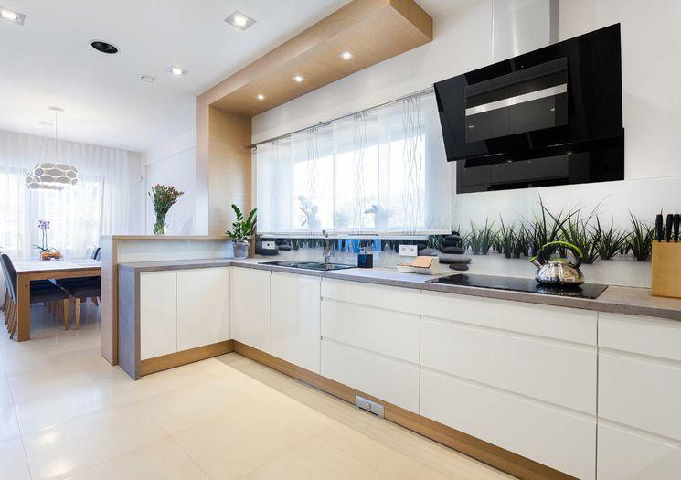 Jak oddzielić kuchnię od salonu  rodzaje przesłon  projekty kuchni  Kuchen   -> Kuchnie Z Marmurem